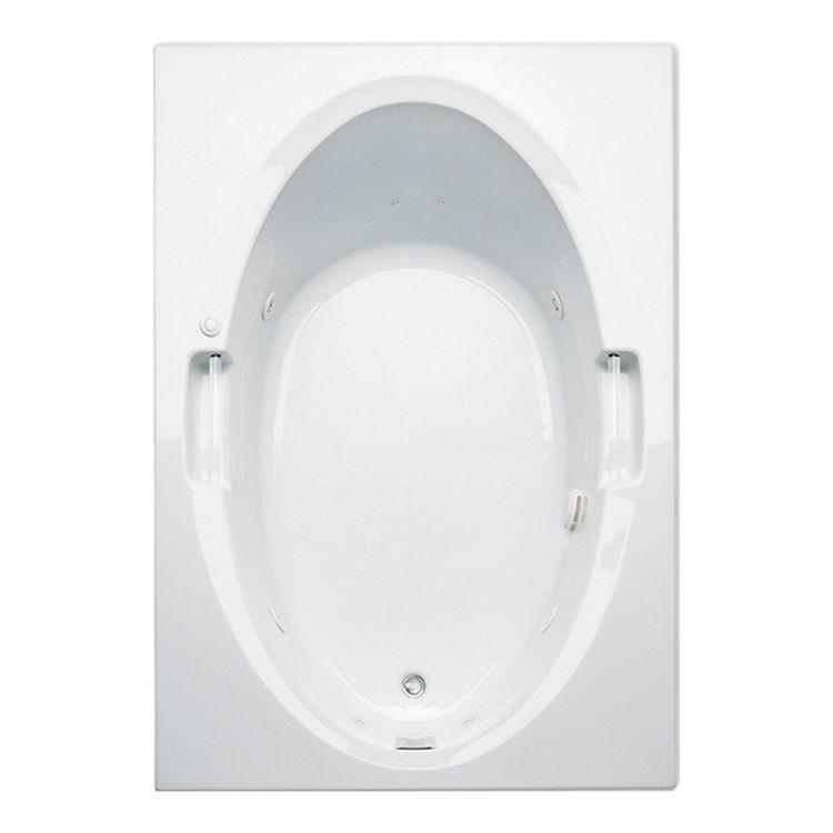Aquatic Bath 6660620 Wh White 60 X42 X21 Acrylic Soaker Tub