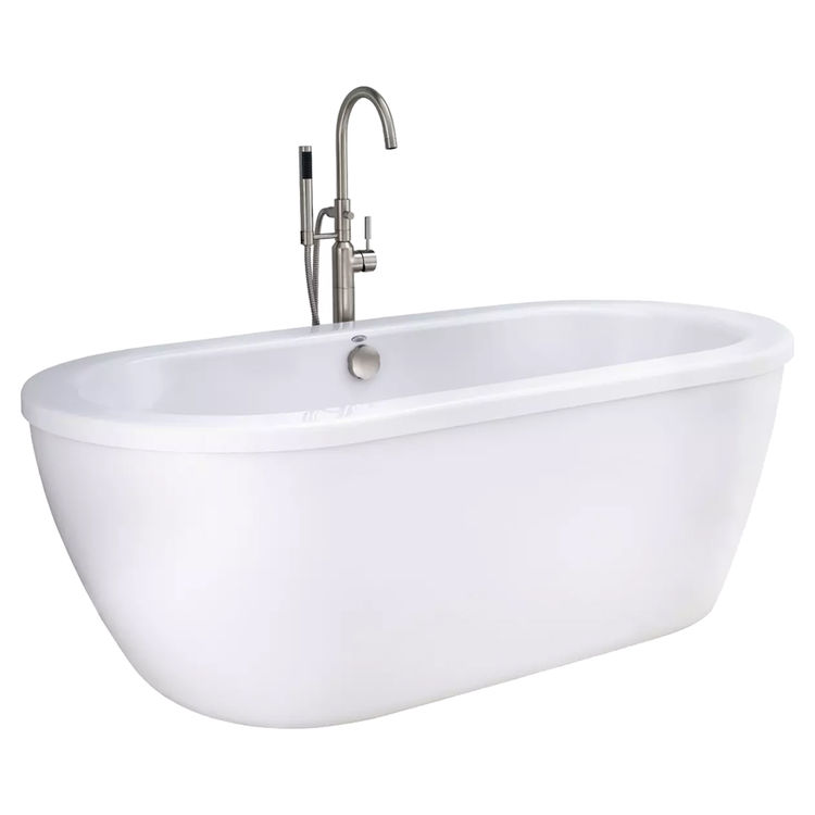American Standard Freestanding Tub.Details About As 2764 014m203 011 Cadet Freestanding Tub Kit Satin Nickel