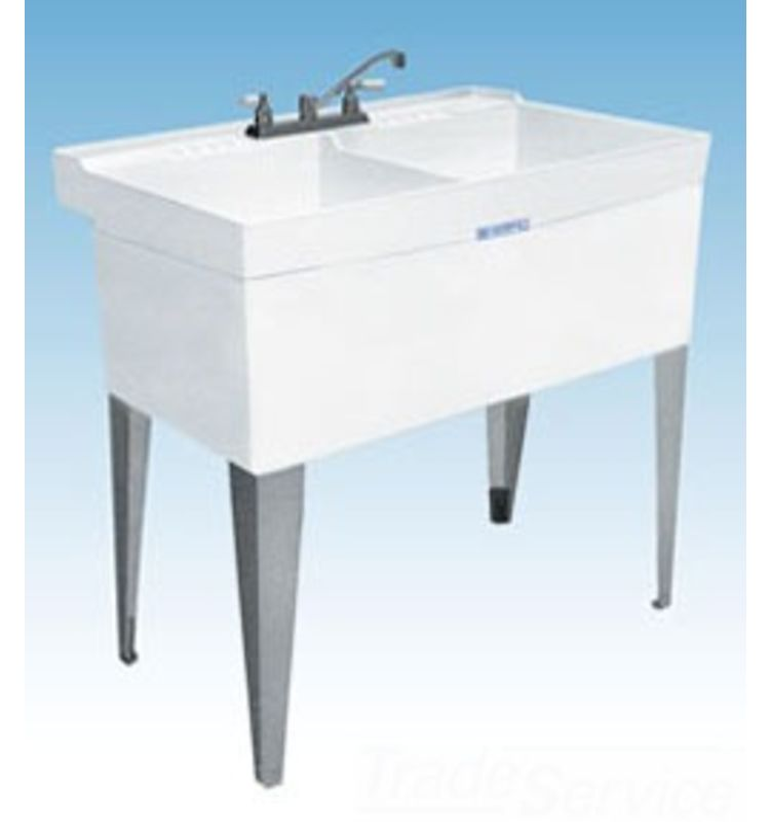 Mustee 26f 40 Quot X24 Quot Utility Laundry Tub Floor White 671031000545 Ebay