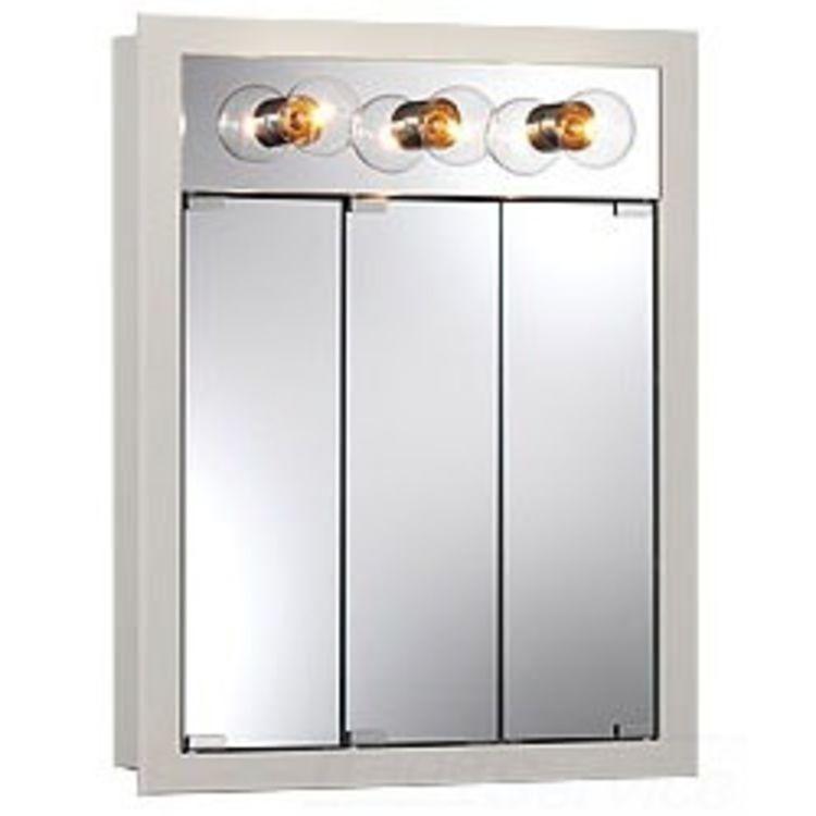 jensen 755363 24 white granville medicine cabinet with 3. Black Bedroom Furniture Sets. Home Design Ideas