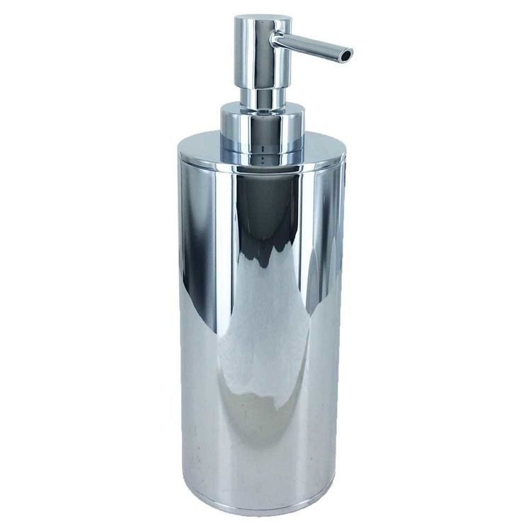 Kohler k 14379 cp polished chrome purist soap dispenser plumbersstock for Polished chrome bathroom countertop accessories