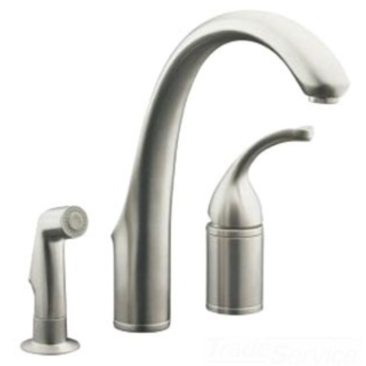 Kohler K-10430-VS Stainless Kitchen Faucet With Spray ...